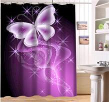 WJY425Y16 пользовательские Классическая мода мультфильм бабочка 01 ткань современной душ Шторы для ванной Водонепроницаемый XY16 xxihlive 32667880252