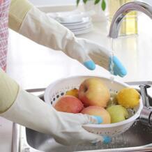 Зимние теплые Кухня мыть посуду латекса для мытья посуды чистящие длинные перчатки хозяйственные Кухня уборка дома перчатки No name 32841112346