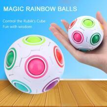 Творческий магия сферической Скорость радуги, пазлы футбольный мяч детские развивающие обучающая головоломка игрушки для детей взрослых HAPPY MONKEY 32862306395