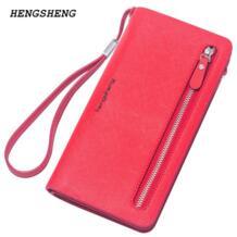 2018 Новый брендовый женский кошелек, высококачественный дизайнерский кошелек на молнии для леди, винтажная Сумка-клатч для телефона, модный кошелек для карт HENGSHENG 32553126770