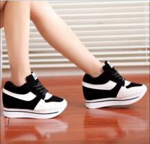 Модная обувь женская обувь на танкетке Для женщин Высота Увеличение плоские Обувь обувь на танкетке и высоком каблуке высокое качество 2 цвета No name 32565664924