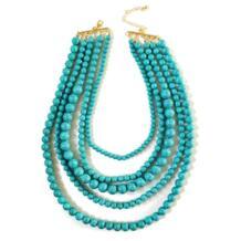 Новый оригинальное, массивное пять слоев акриловые мраморные бусины воротник цепочки и ожерелья kawela 32795406028