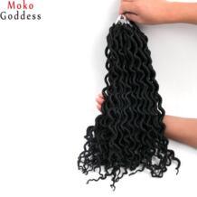 Mokogoddess искусственная locs вьющихся волос оплетки 16 дюймов 24 стоит/пакет синтетический плетение волос вязанная косами волос No name 32828635459