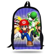 16-дюймовый Mochilas Infantil Super Mario сумка мультфильм Рюкзак Дети Обувь для мальчиков От 7 до 13 лет детей Школьные ранцы Обувь для девочек No name 2042260314