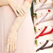 Сексуальные женские кружевные перчатки варежки для вечерние аксессуары, УФ-перчатки для водителя с защитой от солнца кружевные летние длинные секции тонкие перчатки No name 2012505001