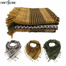 Военная ветрозащитный Shemagh Тактический пустынный арабские шарфы хиджабы Шарф хлопок путешествия альпинизм в Аравии No name 1970686379