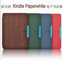 Рисунок древесины кожаный чехол принципиально для Amazon Kindle Paperwhite 1/2/3 (2012 2013 2014 2015 версии) 6 ''читалка + пленка + стилус No name 1379403320