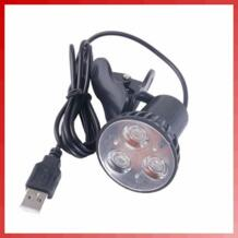 Супер яркий 3 LED светодио дный порты и разъёмы клип на пятно USB свет лампы для портативных ПК тетрадь черный HNGCHOIGE 32825999997