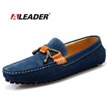 Повседневные кожаные туфли для мужчин осень 2017 г. слипоны плоские легкие кожаные туфли модные Мужская обувь для вождения Мужские Мокасины удобные дизайнерские Обувь No name 32428458646