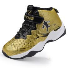2018 толстой нескользящей резиновой брендовые Детские кроссовки золото Мальчики Баскетбол обувь открытая детская спортивная обувь корзина кроссовки JONEY GREEN 32950578890