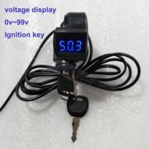 Напряжение Цифровой дисплей данных для электрический велосипед Скутер с зажиганием Вкл/Выкл ключ/Широкий напряжение 36V48V72v светодио дный LED панель G-P229 ZLZLMOTOR 32823790847