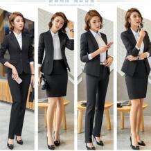 Для женщин офисные юбка костюм плюс размеры 4XL2018 Тонкий OL Элегантные дамы комплект из 2 частей костюмы для работы осень женский бизнес Z&I 32892121943