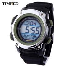 Time100 часы для Молодежи Цифровые Спортивные Часы LED Многофункциональные часы Сигнализации Водонепроницаемые часы Резиновый ремешок мальчика Военный Ремень Электронные Наручные Часы No name 1738105469