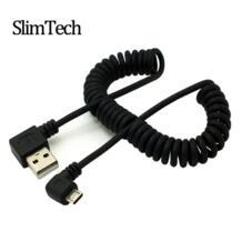 1 м 90 градусов usb micro usb угол кабель зарядки usb и micro usb весна выдвижной кабель datos заряжателя sync данным кабель спиральный кабо No name 1994485426