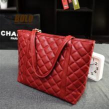 Новая волна женская сумка европейской и американской моды для отдыха стеганый шарф большой мешок руки мешок плеча No name 32584952255