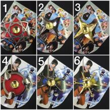 Аниме Наруто Pocket Monster Одна деталь Спиннеры EDC руки spiner цинковый сплав игрушка металла Shuriken палец spinner для детей подарок GHYSMP 32849231742