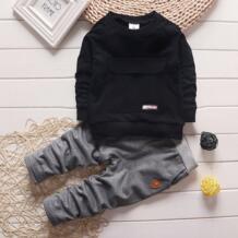 2016 модная осенняя одежда для маленьких мальчиков и девочек, топ с длинными рукавами + штаны, спортивный костюм из 2 предметов, комплект одежды для малышей, Одежда для новорожденных NGMZT 32697745651