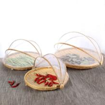 Китайский Стиль Анти-москитные ручной работы бамбуковая корзина для хранения фруктов чашки-тарелки лоток сушка бамбука клетку кухня организатор Halojaju 32732486061
