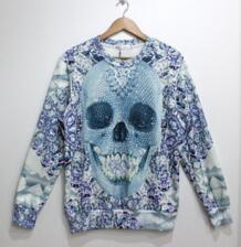 Thicken Free Shipping suit women 3D Sweaters Long sleeve Galaxy hoodies Pullovers skull animal 3D sweatshirt S/M/L/XL No name 1578298915