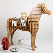 Высококачественный 9 мм конский стол лошадь деревянный журнальный стол лошадь мебельные полки книжные шкафы TM013M iWood 32582437823