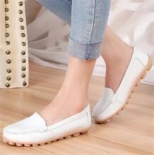 2016 женская обувь из натуральной кожи теплые женские летние туфли на плоской подошве женские лоферы на плоской подошве модная женская обувь size35-41 No name 1927341444