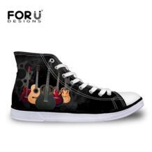 /модные мужские вулканизированные туфли классические 3D гитары высокие парусиновые туфли дышащие подростковые студенческие туфли на плоской подошве FORUDESIGNS 32651693876