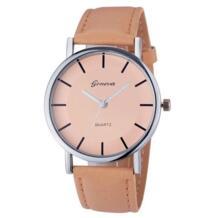 Женева Relogio Feminino для женщин наручные часы ретро циферблат кожа аналоговые кварцевые часы Подарочные наручные часы челнока susenstone 32749288010