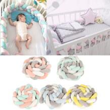 2 м Детские накладка на перила кроватки узел дизайн детские плюшевые бортики в детскую кровать защита Cot бампер Детские спальни декор постельные принадлежности аксессуары для ребенка VGEBY 32863536151