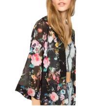 Для женщин печатных шифона кардиган Топы корректирующие прикрыть блузка летнее пляжное платье отделка купальник бикини 456 Liva girl 32806815125