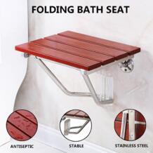 Новый складной для Ванной сиденье скамейке стул для душа настенное крепление твердой древесины строительство Сиденье для душа экономии No name 32870479302
