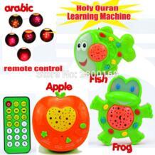 Арабский исламский игрушки Apple, рыбы, лягушки обучения Священный Коран обучения машины мусульманские игрушки с проекцией образования ислам игрушки GQMILA 32795169515