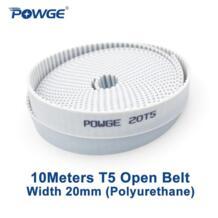 Powge 10 метров трапециевидная T5 открыть синхронный ремень Ширина 20 мм полиуретан стали ПУ t5-20mm открытых зубчатых Ремни шкив 3D принтер No name 2051878869