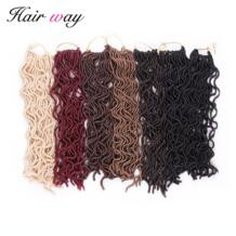 Волос способ 18 дюймов длинные вязаные косы Химическое наращивание волос натуральный синтетических плетение Замки искусственная locs вьющиеся волосы 24strands/пакет 6 Цвет No name 32844579398