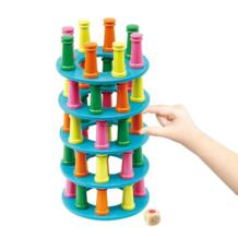 3D головоломка башня Людо свернуть блоки игры Настольная игра для детей образования Building интерактивная игрушка детская Семья весело No name 32881031814
