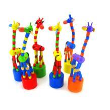 Красочные качалки жираф игрушка развития детей танцы стоя провода управление животных игрушечные лошадки Детские Обучающие Деревянные конструкторы No name 32882202156