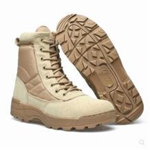 Высокое качество Военная Униформа армейские ботинки Армейские ботинки мужская кожаная обувь Tan Цвет No name 32772505831