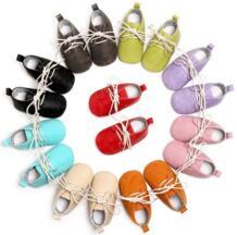 Босоножки Твердые Искусственная кожа детские мокасины Оксфорд ботиночки для новорожденных и малышей анти-обувь без застежки первые ходоки на мягкой подошве детские пинетки HONGTEYA 32685518192