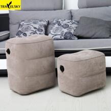Лидер продаж, дорожная подушка для путешествий, для самолета, большой клапан, для ног, для отдыха, для путешествий, для ног, надувная подушка, Прямая доставка TRAVELSKY 32845117658