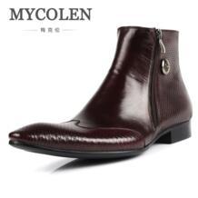 /Зимние новые мужские ботинки челси из коровьей кожи; мужские ботинки из натуральной кожи с острым носком; офисные рабочие ботинки; мужская обувь с высоким берцем-in Обувь челси from Обувь on Aliexpress.com | Alibaba Group MYCOLEN 32849378972