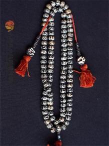BRO637 Тибетские мантры четки кости яка бусины Тибет ручная роспись Ом Мани площадку меня гул Цепочки и ожерелья для мужчин No name 737331032