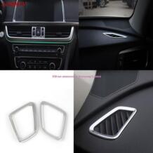 3 шт. автомобиль-Стайлинг Chrome подкладке центр + верх AC Air Vent Выход Обложка отделка Крышка для Kia Optima K5 2016 салона укладки AOSRRUN 32749810189