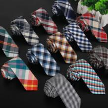 Высококачественная Клетчатая Мужская хлопковая и тканевая подкладка тканевый галстук 5,5 см узкий галстук бренд 2017 роскошный гравата, тонкий Лот-in Мужские галстуки и носовые платки from Аксессуары для одежды on Aliexpress.com | Alibaba SHENNAIWEI 32253695023