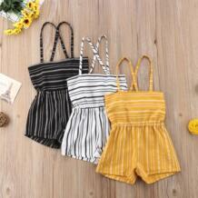 Модные летние комбинезоны в полоску с открытыми плечами для маленьких девочек pudcoco 32908248696