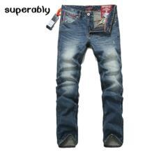 2017 Slim Fit джинсы Для мужчин Новый известный бренд супер джинсы Рваные джинсовые брюки высокое качество Для мужчин s джинсы с логотипом UE237 superably 32777866600
