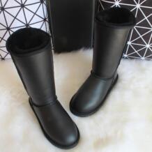 G & Zaco/Роскошные зимние классические сапоги до колена из овечьей кожи, зимние сапоги из натуральной шерсти, сапоги на овечьем меху, женские высокие сапоги, кожаная обувь G&ZaCo Luxury 32743954711