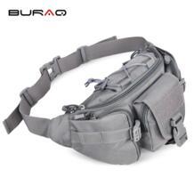 БУРАК Водонепроницаемый нейлон высшим унисекс талии сумка большая поясная Для мужчин Для женщин большой Ёмкость Военная Униформа Поясные сумки t0115 BURAQ 32755477725