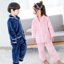 Супер теплая зима пижамы, нижнее белье для детей фланель для мальчиков и девочек домашняя одежда для сна Пижама для детей 2019 2 шт./компл. Kacakid 32840800510