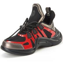 Беговые кроссовки для мальчиков с высоким берцем, крутая брендовая Осенняя детская спортивная обувь на толстой подошве, унисекс, Студенческая детская прогулочная обувь для девочек JONEY GREEN 32893551807