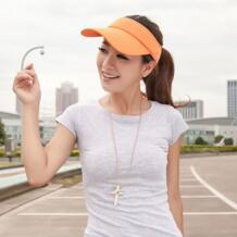 Новое поступление 6 цветов Регулируемый Для женщин Летняя уличная Защита от солнца козырек шляпа спортивные Гольф Бейсбол Теннис шляпа Кепки подарок HimanJie 32816584044