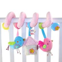 New Cute Birds Music Spiral Activity Stroller Car Seat Cot Lathe Hanging Babyplay Travel Newborn Baby Rattles Infant Toys WJ289-in Детские погремушки и мобильники from Игрушки и хобби on Aliexpress.com | Alibaba Group HAPPY MONKEY 32666444204